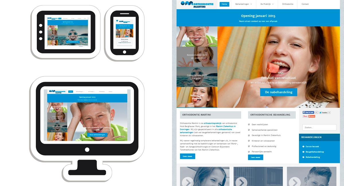 Responsive website Orthodontie Martini